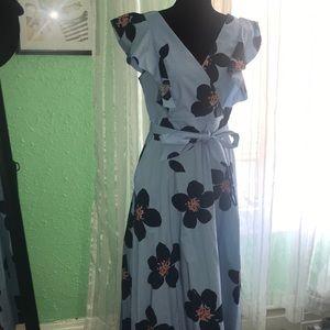 Grand Flora Poplin Midi Dress